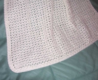 Baby Afghan, White  US-2162