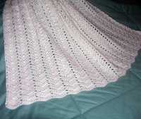 Baby Afghan, White Ripple US-2159