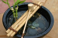 "Bamboo Water Ladle and 12"" Ladle Rest"
