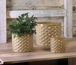 Basket Weave Planter Trio 10015302