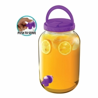 Beverage Dispenser with Handle, Purple 10016419