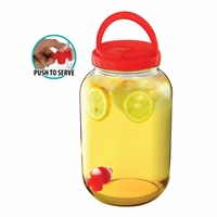 Beverage Dispenser with Handle, Red 10016417