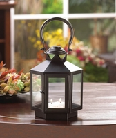 Black Carriage Candle Lantern, 10 3/4 inches 10015364