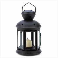 Black Colonial Candle Lantern, 9 1/2 inches 14123