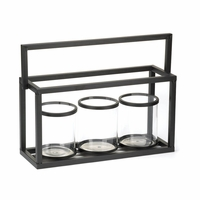 Black Metal Candleholder Set 10015432