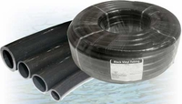Black Vinyl Tubing for Ponds 1/2 inch ID x 3/4 inch OD, 1/8 inch wall  (Black Flexible PVC)
