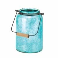 Blue Jar Candle Lantern 10016682