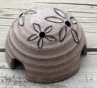 Brown Fountain Pump Bowl Cover with Flowers 12060
