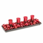 Candle Holder Tray with Ornaments 10015396