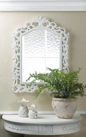 Carved Wall Mirror, White 10016000
