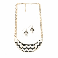 Chevron Necklace and Earrings Set 10016108