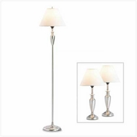 Contemporary Lamp Set 36998