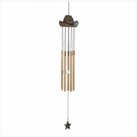 Cowboy Hat Wind Chime 14585
