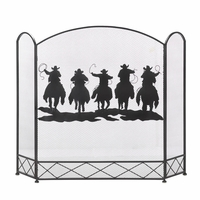 Cowboy Roundup Fireplace Screen 10015991
