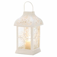 Daisy Gazebo Candle Lantern, 9 1/2 inches 14617