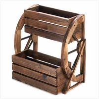 Double Wagon Wheel Planter 13842