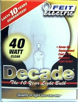 Feit Decade 40W 120V G25 Mini-Globe Clear E26 Base Bulb, 40G25 40G2515K