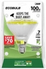 Feit ECOBulb Plus 20W / 100W 120V PAR38 Weatherproof Yellow Bug CFL Flood BPESL23PAR38T/BUG