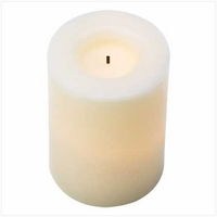 Flameless Pillar Candle, Vanilla 14353