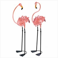 Flamingo Garden Figures, Pair 13772