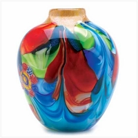 Floral Fantasia Art Glass Vase 12982