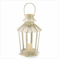 Fluted Candle Lantern 39892