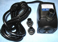 Fountain Tech 300GPH 120V Submersible Pond or Fountain Pump, FT-300 FT-300L PP-399 WT300P
