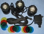 FountainPro Color Submersible LED Super Bright Light Set, JTPL13LED