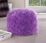 Fuzzy Orchid Pouf Ottoman 10016121