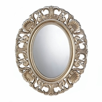 Gilded Oval Wall Mirror 10017055