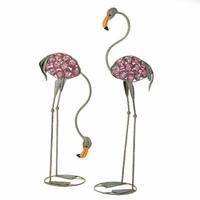 Glass Art Flamingo Set D1092