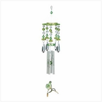 Green Crystal Hummingbird Wind Chime 12506