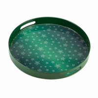 Green Snowflake Serving Tray 10015514