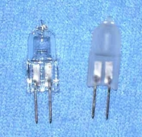 Halogen 5W 12V Clear/Frosted Bi-Pin G4 Base JC5009 JC5009F JC12V5W
