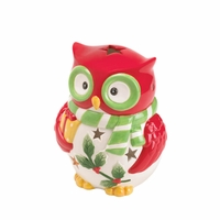Holiday Hoot Tealight Holder 10016060