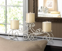 Ivory Scrolled Candle Stand 10015841