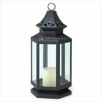 Large Black Stagecoach Lantern, 16 inches 13363