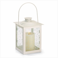 Large Ivory Lantern, 8 inches 37441