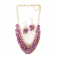 Layered Orchid Jewelry Set 10016113