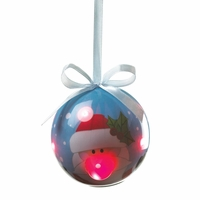 Light Up Santa Ornament 10016083