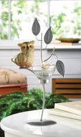Little Owl on Branch Candleholder 10015947