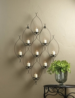 Metal Wall Art Candleholder 10016154