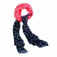 Orange and Navy Stars Scarf 10016248