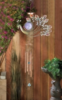 Peacock Solar Wind Chime, 34 1/2 inches  10015173