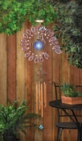 Peacock Solar Wind Chime, 38 1/2 inches  10015174