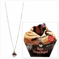 Peanut Butter Cupcake Necklace 14387