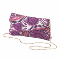 Plum Print Clutch Handbag 10015987