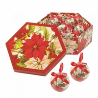 Poinsettia Ornaments Boxed Set 10017685