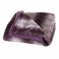 Purple Ombre Fur Throw 10016371