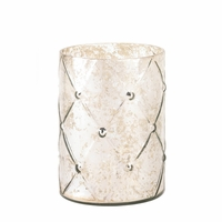 Quilted Mercury Glass Candleholder, Large 10015869